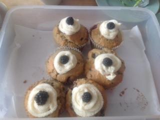 Melissa's Blackberry Muffins